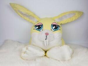 Vintage 1985 PSE Marketing Pillow People Beddy-Bye-Bunny Yellow Rabbit Plush