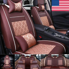5 Seats SUV Car Seat Cover PU Leather Breathable Pad Mat for Auto Chair Cushion