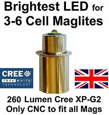 Upled Maglite CREE LED Upgrade 260 Lumen Conversion Bulb 3 to 6 D or C Cell Torch