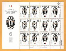 FOGLIETTO NUOVO SAN MARINO Juventus CAMPIONE D'ITALIA 2016 - 2017 SESTO SCUDETTO