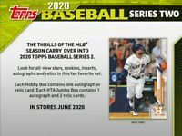 Series 2 Topps 2020  | BREAK | 4 Hobby Boxes | Random Team | 4 autos or Relics