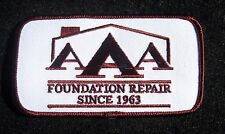 "AAA FOUNDATION REPAIR EMBROIDERED SEW ON PATCH HOUSTON TEXAS 4 1/2"" x 2 1/2"""