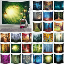 UK Abstract Forest Tapestry Bedspread Psychedelic Wall Hanging Tapestries Decor
