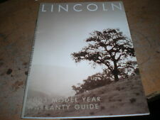 2003 LINCOLN TOWN CAR CONTINENTAL NAVIGATOR LS MARK WARRANTY OWNERS MANUAL GUIDE