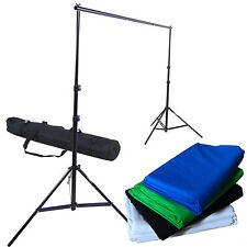 Kit Video Supporto Portafondali +Borsa +Fondale Background Bianco Nero Blu Verde