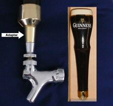 Guinness Draught beer tap handle faucet ADAPTER SLV **READ**