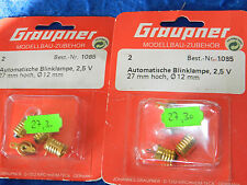 vintage GRAUPNER 1085 ampoule BLINKLAMPE 2,5v CLIGNOTANT blinking LIGHT 12-27 mm