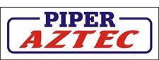 A095 Piper Aztec Airplane banner hangar garage decor Aircraft signs