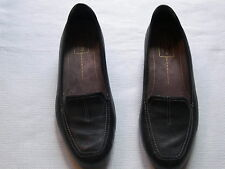 WOMENS CLARKS EVERYDAY BLACK LEATHER LOAFER SHOES SIZE 8 N