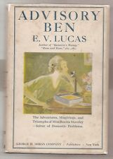 ADVISORY BEN by E. V. LUCAS 1924 1st EDITION W/DJ ** VERY SCARCE DUST JACKET