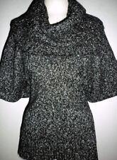 MICHAEL MICHAEL KORS SZ SMALL GRAY & BLACK MARLED REMOVABLE COWL NECK SWEATER