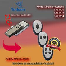 TEDSEN SKX1WD,SKX2WD,SKX4WD, 433.92 MHz Kompatibel Handsender, Ersatz sender