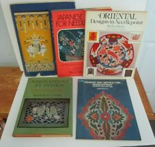 Lot of 5 Asian Themed NEEDLEPOINT Books, Illustrated