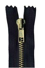 18cm Black Jeans Zip