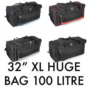 """32"""" Extra Large Holdall Duffle Travel Bag Luggage Weekend GYM Sports Bag 100 L"""