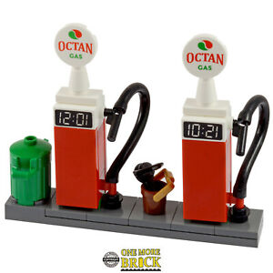 Petrol / Gas Pumps - Petrol Station Garage - NEW   All parts LEGO