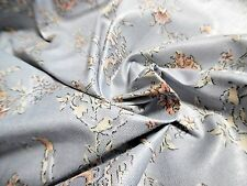 "VINTAGE COTTON CHINTZ~SMALL FLORAL~FRENCH BLUE/PEACH~12""x 54""~DOLL FABRIC"