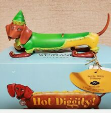 Hot Diggity Dog Elf Weiner Dog Dachshund Christmas Decoration Westland