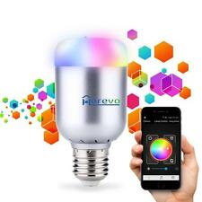 Dimmable E27 APP Wireless Bluetooth Color Changing LED RGB Smart Light Bulb Lamp