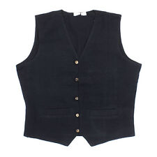 Plain Black Cotton Waistcoat Hippie Boho Fair Trade size Large