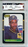 1987 Leaf #219 Barry Bonds Rookie Card AGC 9 Mint Pittsburgh Pirates