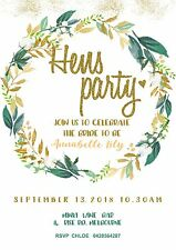 Unlimited - Hens / Bridal Shower Invite / Invitation - Floral File personalised