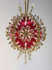 Kit RED INFINITY Gramma's Old Attic Christmas Ornament Satin Silk Foam Ball Bead