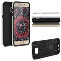 Samsung Galaxy C5 Back Case Carbon Style Cover Dual Layer Schutz Hülle TPU