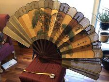 Vintage, Oriental, Hand painted Wall Fan- 🐯 TIGER