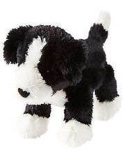 HTF NWT Carters Black And White Plush Puppy Dog With Red Collar Baby Toy 66971