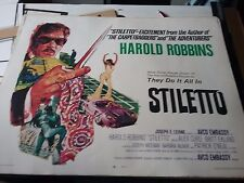 MOVIE POSTERS     STILETTO       A HAROLD ROBBINS FILM   1969 AVCO EMBASSY PIC.
