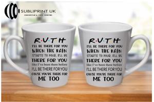 Lyrics Friends LATTE Mug - Personalised Name - Friends TV Show