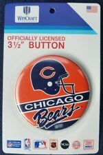 """Chicago Bears Pin Button 3 1/2"""" Vintage NFL Licensed USA Made"""