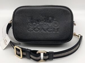 🌟NWT COACH JES Convertible Belt Bag Horse And Carriage Black Leather F79212