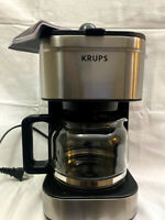 KRUPS, Simply Brew Compact Filter Drip Coffee Maker, 5-Cup, Silver, USED