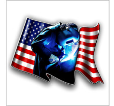 Welder American Flag sticker decal   free shipping
