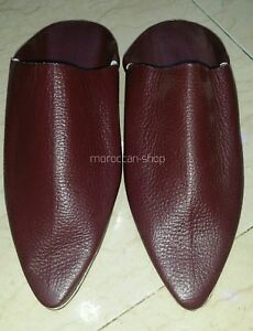 Moroccan Traditional Babouches, Slippers for Men, Handmade Leather, 8US To 15US