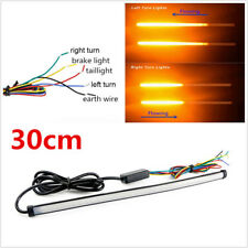 12V 29cm Amber Red Flowing LED Motorbike Switchback Brake Turn Signal Lamp Strip