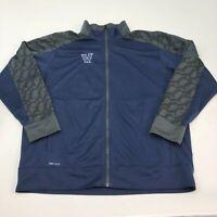 Nike Dri-Fit Track Jacket Mens 2XL XXL Navy Blue Gray Full Zip Villanova Running