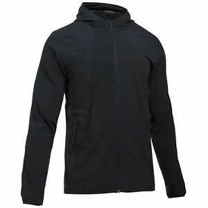 Under Armour UA Storm Black Mens Running Hooded Track Top Jacket 1304579 001