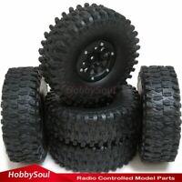 5pcs RC 1.9 Super Swamper Tires 120mm tyres & 1.9'' Beadlock Rim Wheels Hex 12mm