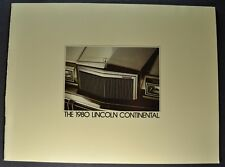 1980 Lincoln Continental Town Car & Coupe Catalog Brochure Excellent Original 80