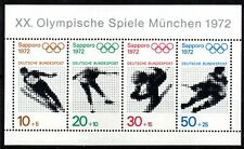 Allemagne - jeux olympiques de SAPPORO - bloc 5 neuf - émis en 71.