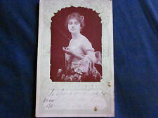 """Used Postcard """"Ruth Stonehouse"""" """"Dr. Miles' Liver Pills"""" 1918 Paoli, Ind."""