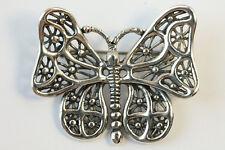 VTG Sterling Silver Butterfly Sculptural Spiderweb Animal Figural Brooch Pin