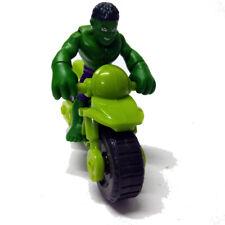 """2.5"""" PlaySkool Heroes Hulk with Motorcycle Marvel Super Hero Adventures Figure"""