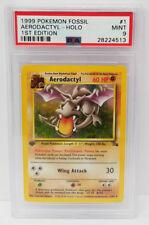 Pokemon 1st Edition Fossil Aerodactyl 1/62 Holo Foil PSA 9 Mint #28224513