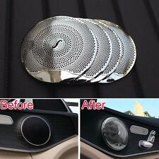 Door Burmester Audio Speaker Sound AMG Style Trim Metal Cover For Benz W205 W213
