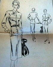 LOVELY VTG 1940s DRESS VOGUE SPECIAL DESIGN Sewing Pattern 12/30