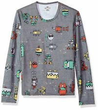 Hot Chillys Youth Pepper Skins Crewneck Bots-Charcoal Large
